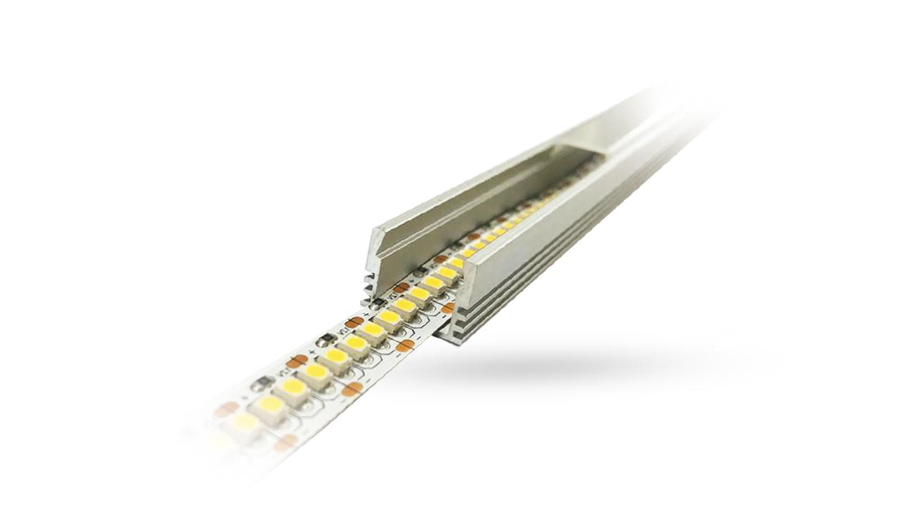 Perfil de Alumínio para LED 3 Metros - Sobrepor 12.2mm