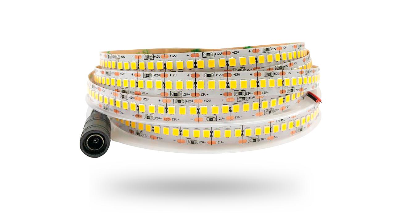 LED 2835 IP20 1200 LEDs 12V 19,2W/m 26.400 lúmens