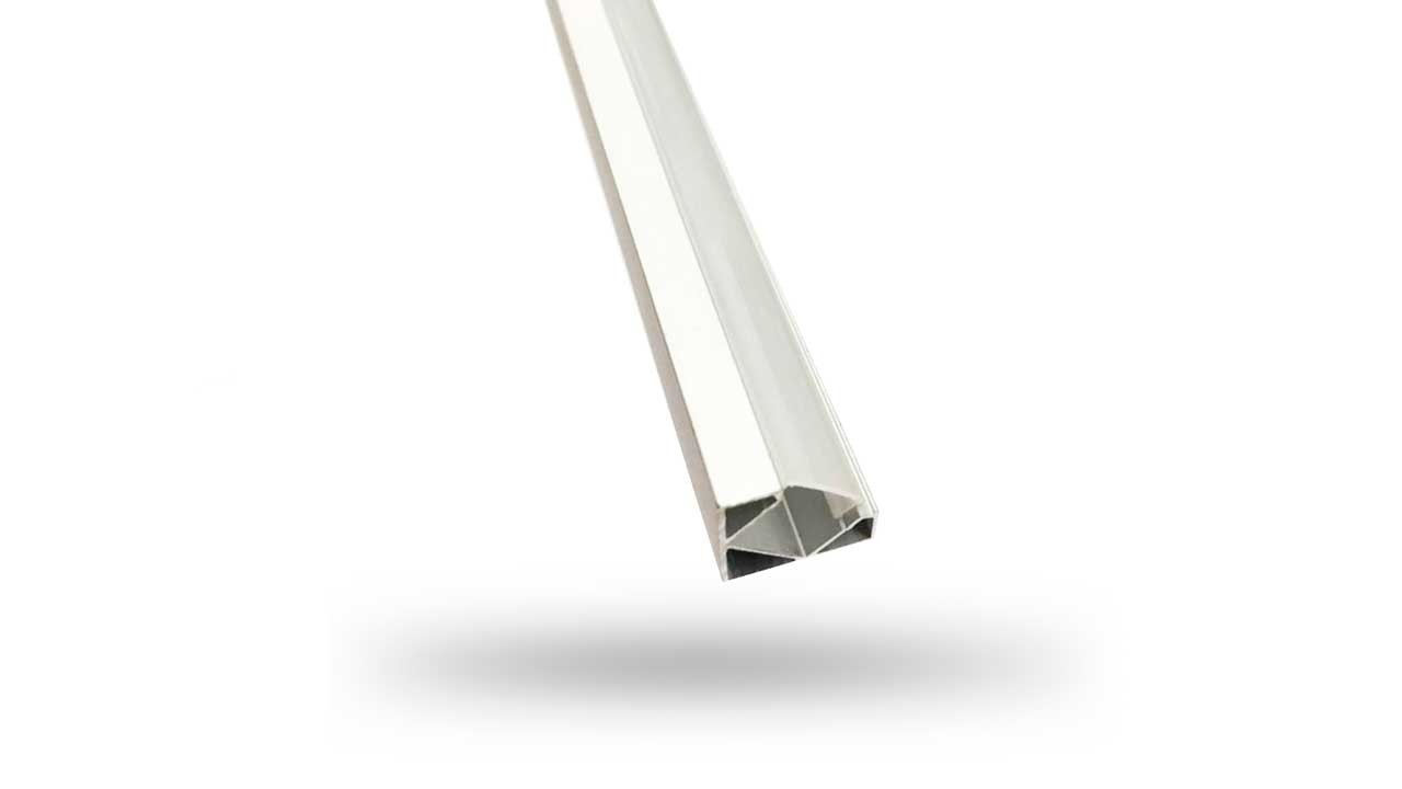 Perfil de Alumínio de Canto para fita de LED