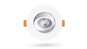 Luminária Mini Dicroica Embutir 3W Redonda Branca - 200Lm